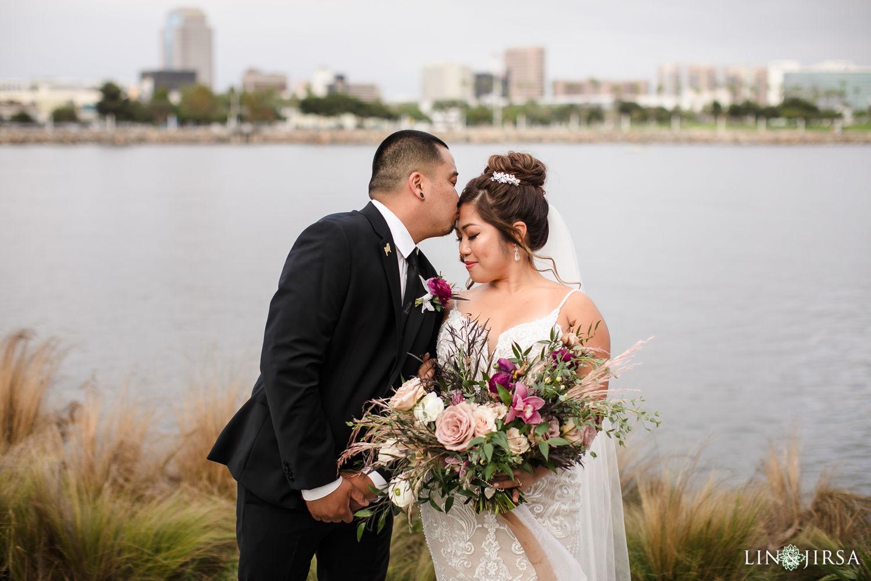 First Look Hotel Maya Long Beach Samantha and Kristoffer Micro Wedding 03