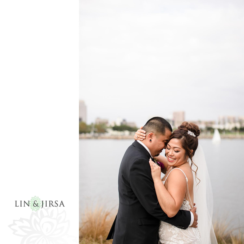 First Look Hotel Maya Long Beach Samantha and Kristoffer Micro Wedding 04