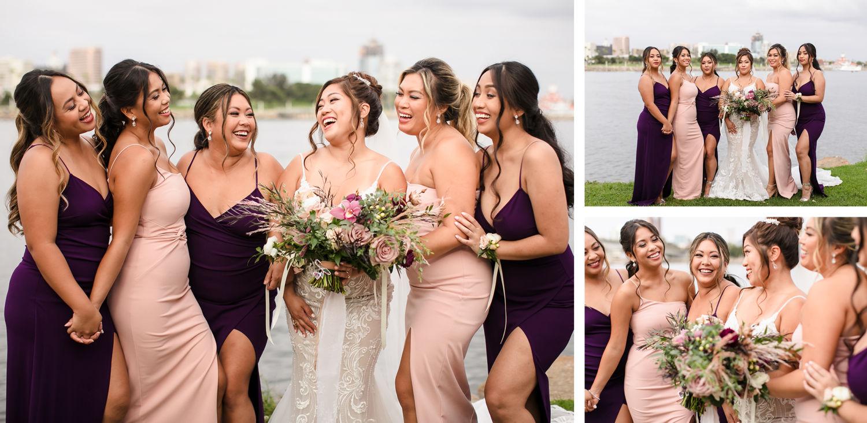 Wedding party Hotel Maya Long Beach Samantha and Kristoffer Micro Wedding