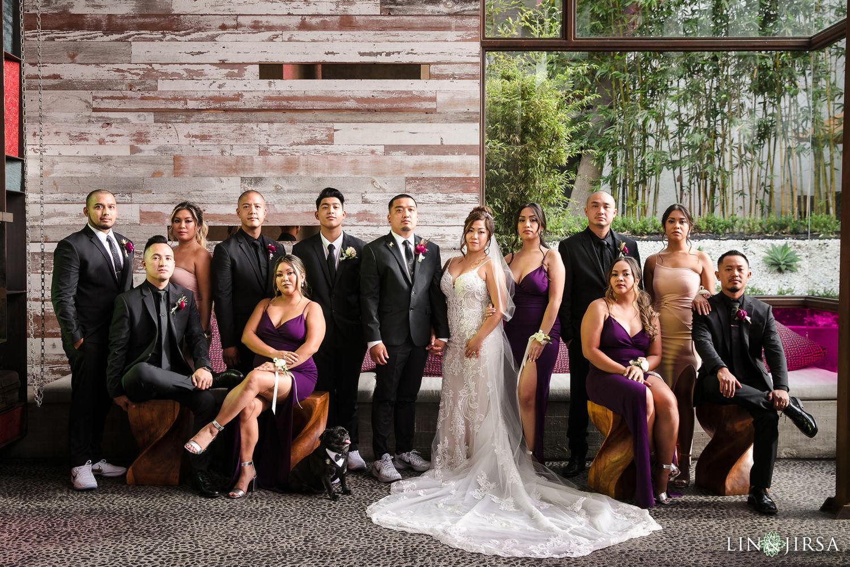 Wedding party Hotel Maya Long Beach Samantha and Kristoffer Micro Wedding03