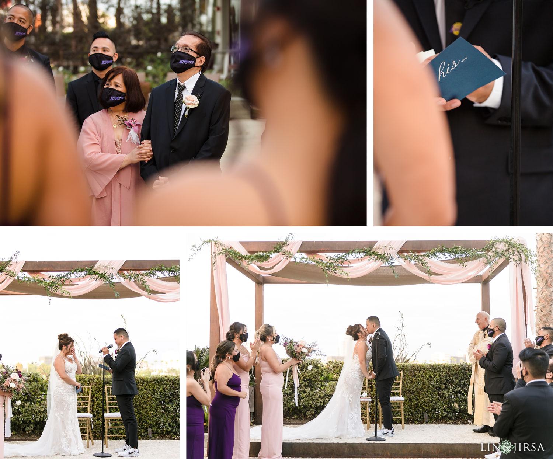 Wedding Ceremony Hotel Maya Long Beach Samantha and Kristoffer Micro Wedding 04