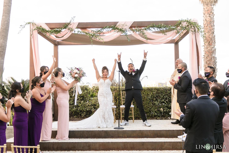 Wedding Ceremony Hotel Maya Long Beach Samantha and Kristoffer Micro Wedding 05