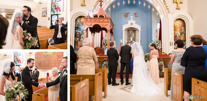 Wedding Ceremony Forty Martyrs Armenian Apostolic Church MicroWedding Lin and Jirsa06