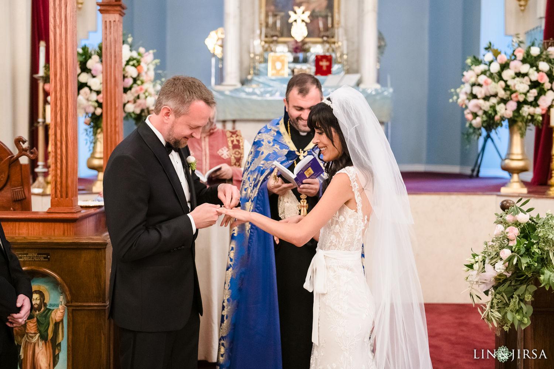 Wedding Ceremony Forty Martyrs Armenian Apostolic Church MicroWedding Lin and Jirsa07