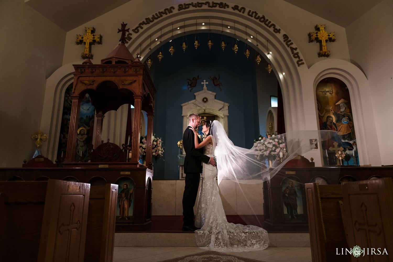 Wedding Ceremony Forty Martyrs Armenian Apostolic Church MicroWedding Lin and Jirsa10