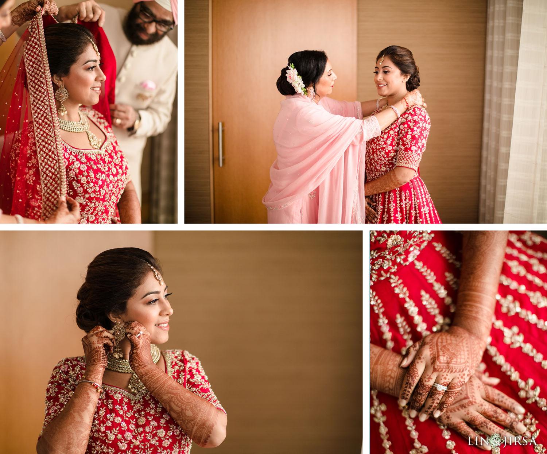 BRIDE PREP Pasea Huntington Beach Sikh Micro Wedding Lin and Jirsa