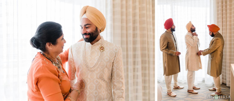 groom prep Pasea Huntington Beach Sikh Micro Wedding Lin and Jirsa