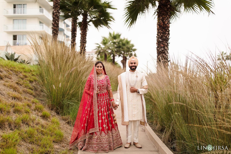 First look Pasea Huntington Beach Sikh Micro Wedding Lin and Jirsa4