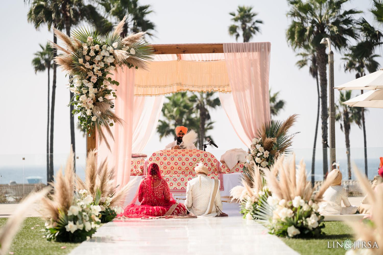 Wedding Ceremony Pasea Huntington Beach Sikh Micro Wedding Lin and Jirsa 03