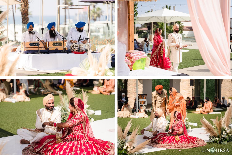 Wedding Ceremony Pasea Huntington Beach Sikh Micro Wedding Lin and Jirsa 5