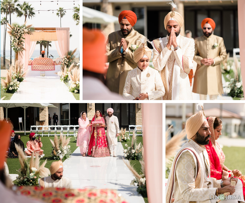 003 Wedding Ceremony Pasea Huntington Beach Sikh Micro Wedding Lin and Jirsa