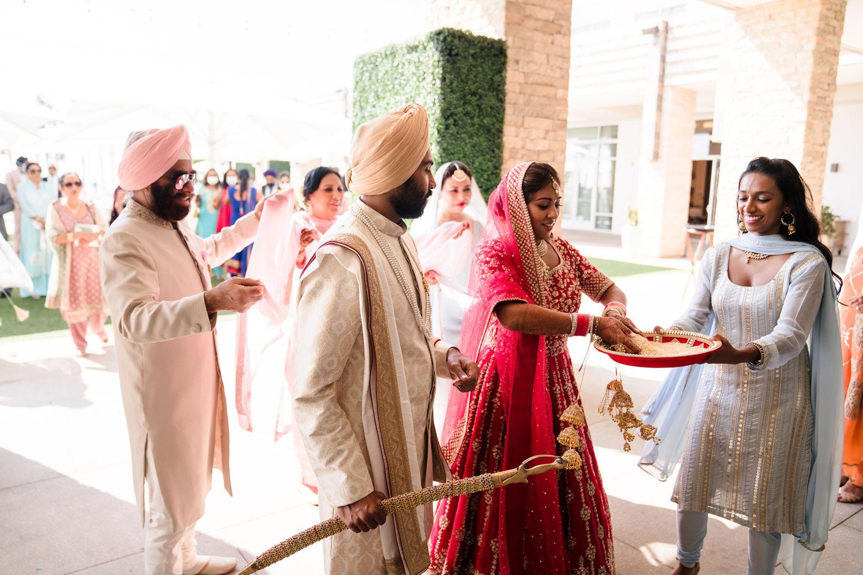 Wedding Ceremony Pasea Huntington Beach Sikh Micro Wedding Lin and Jirsa 07
