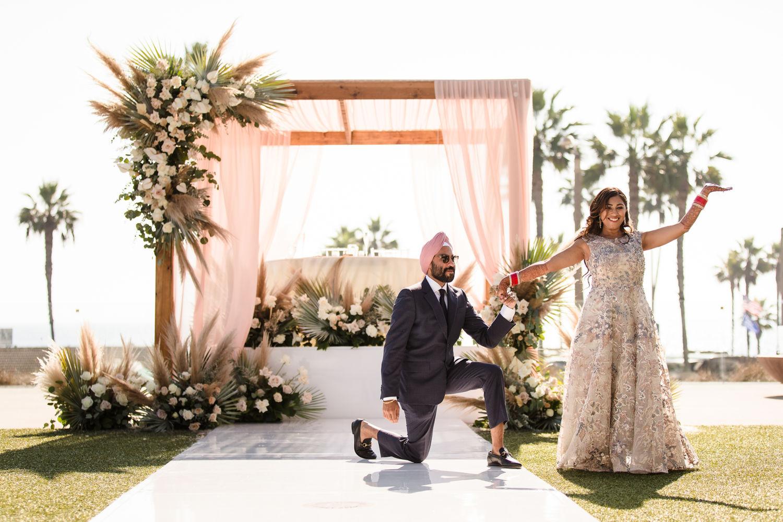Wedding Lunch Pasea Huntington Beach Sikh Micro Wedding Lin and Jirsa 0008