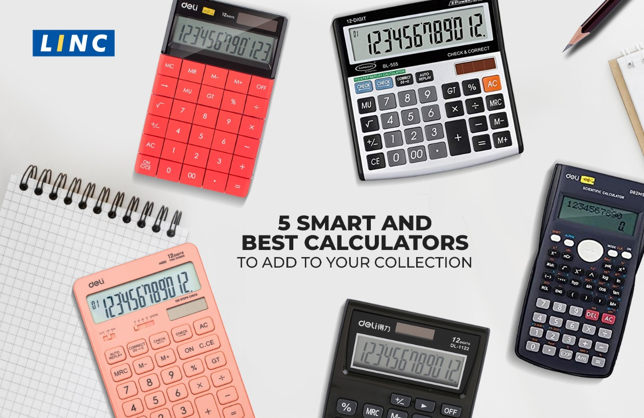 Linc Pens, Calculators, Deli Calculators