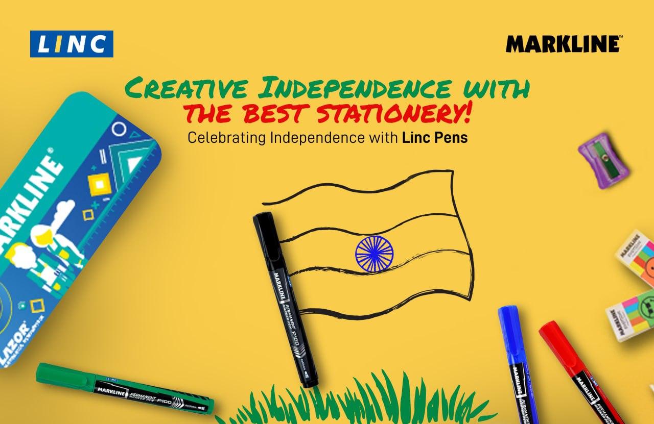 Linc Pens, Markline Markers, Markline Geometry Box, Markline Pencil, Pencil
