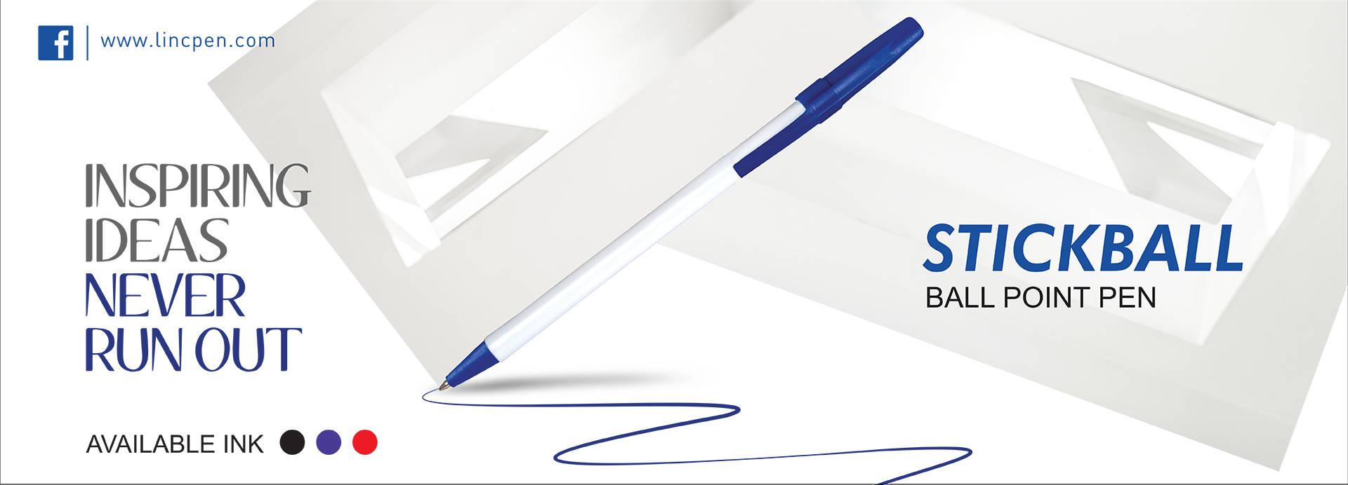 red medium stick pen
