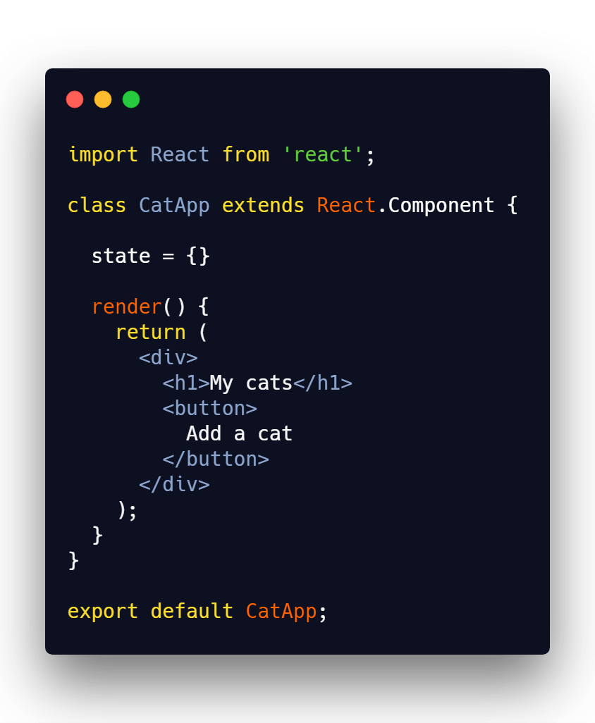 React component with state
