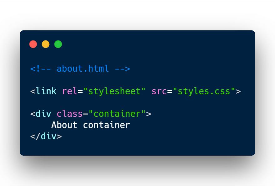 Loading CSS stylsheet inside HTML file