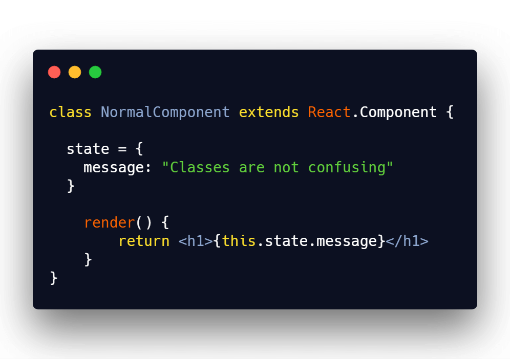 Basic React component with state and displaying state message