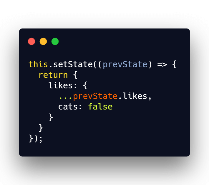Proper setState usage with nested object in React state