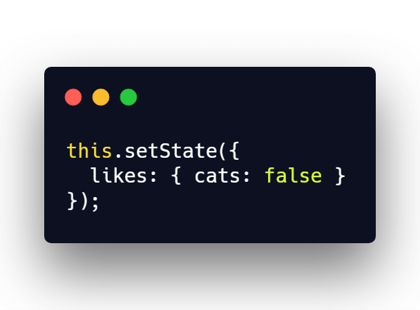 Improper setState use with nested objects in React state