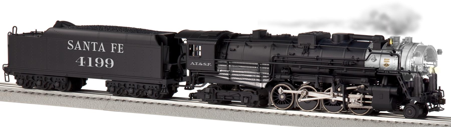 Santa Fe Legacy Scale 2 8 4 Berkshire Steam Locomotive 4199