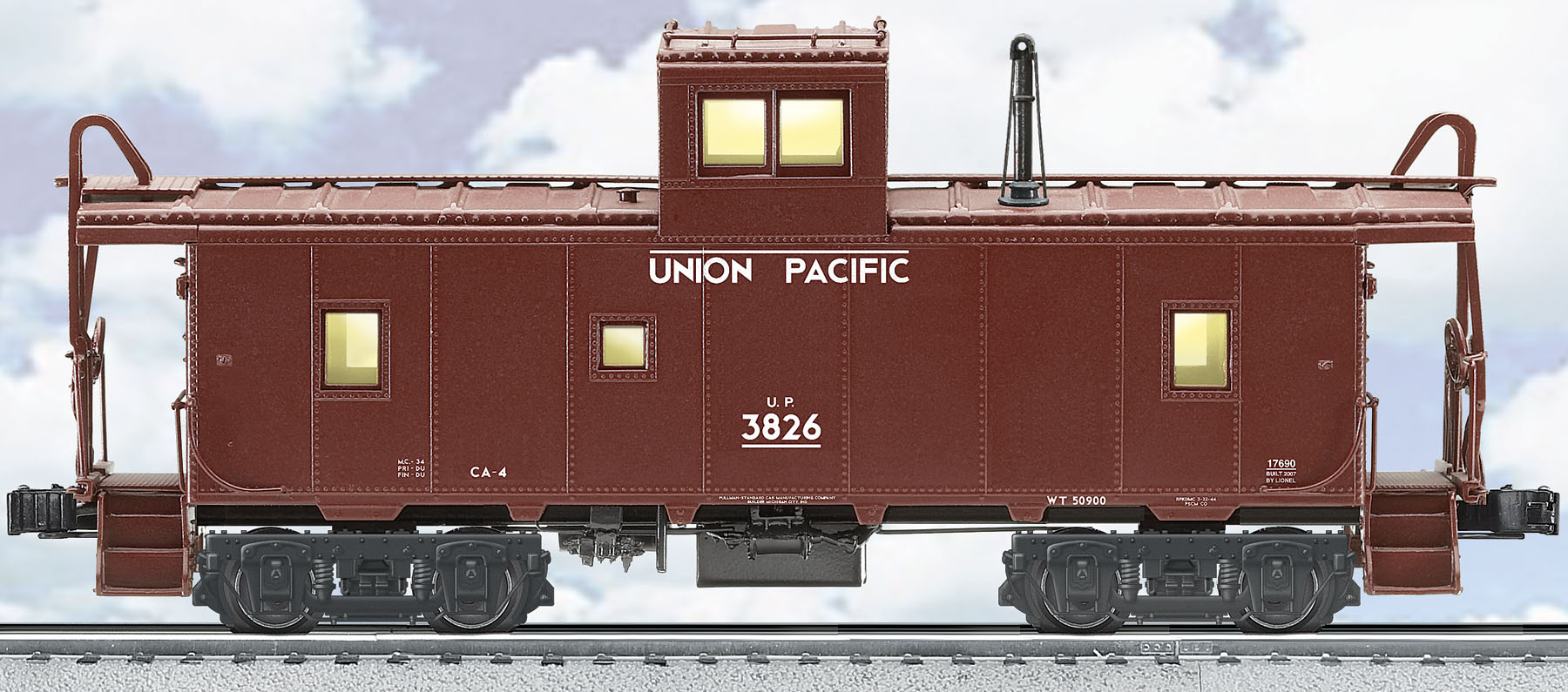 Union Pacific Ca 4 Caboose 3826