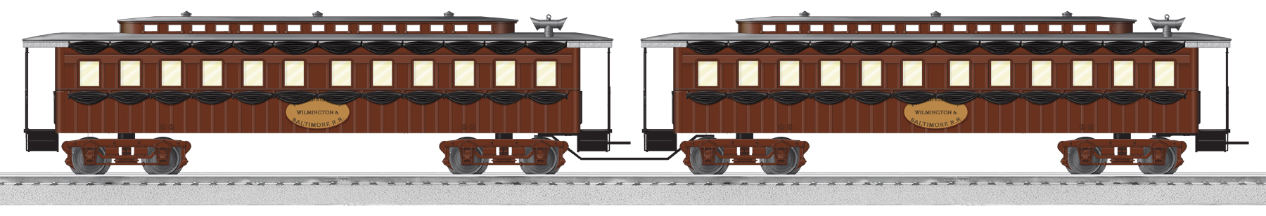 Lincoln Funeral Train Add On Passenger Car 2 Pack