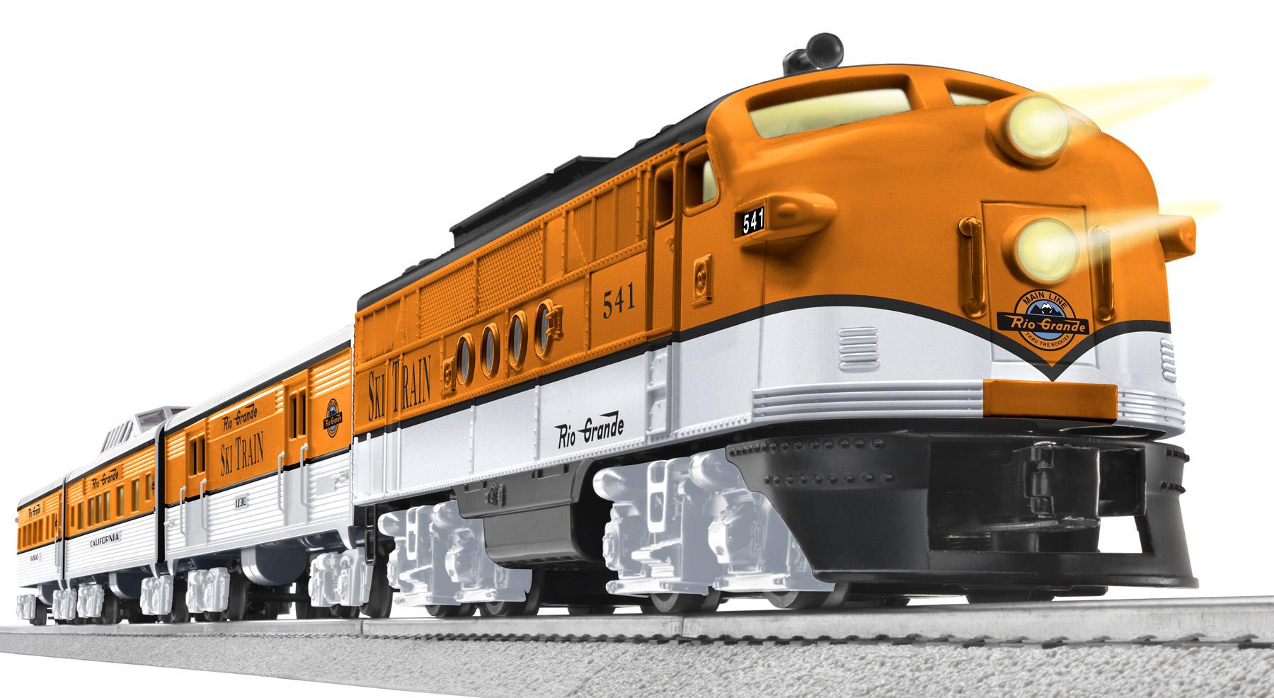 Rio Grande Ski Train with TrainSounds (Conv  FT Diesel #541)
