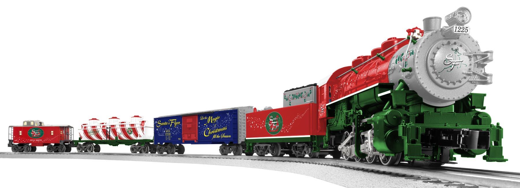 Santa S Flyer Ready To Run Train Set 0 8 0 Steam Loco 1225