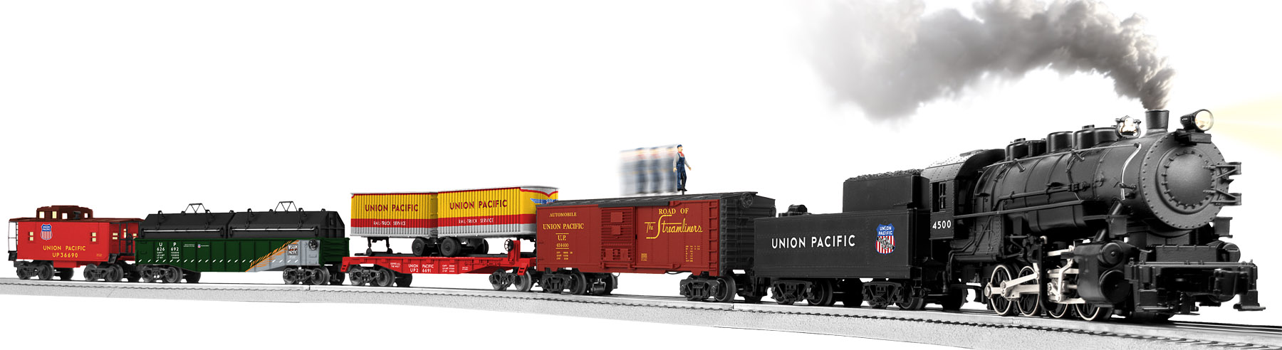 Union Pacific Overland Flyer Freight Train Conv 0 8 0