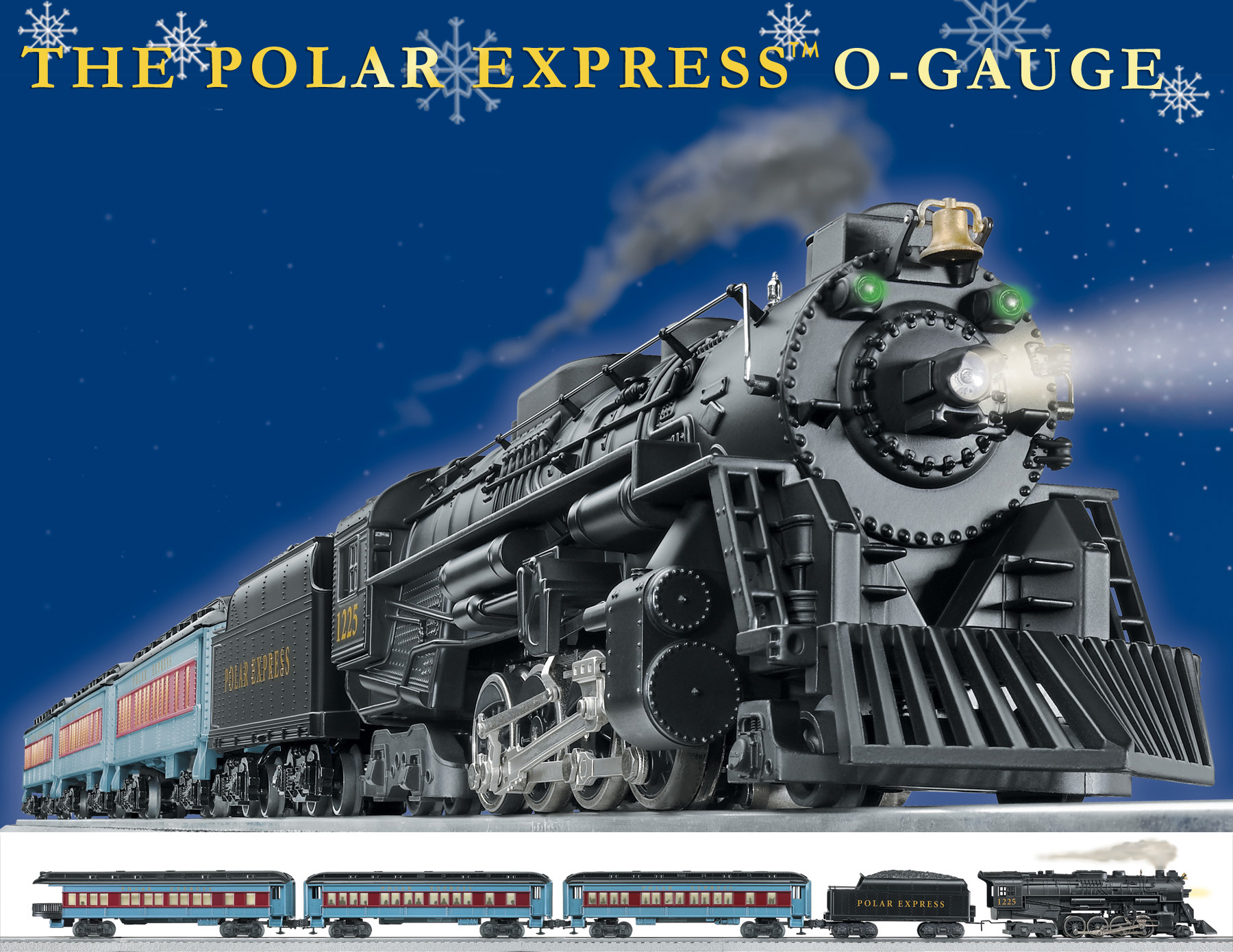 The Polar Express™ O Gauge Set (Conv. 2-8-4 Berkshire ...