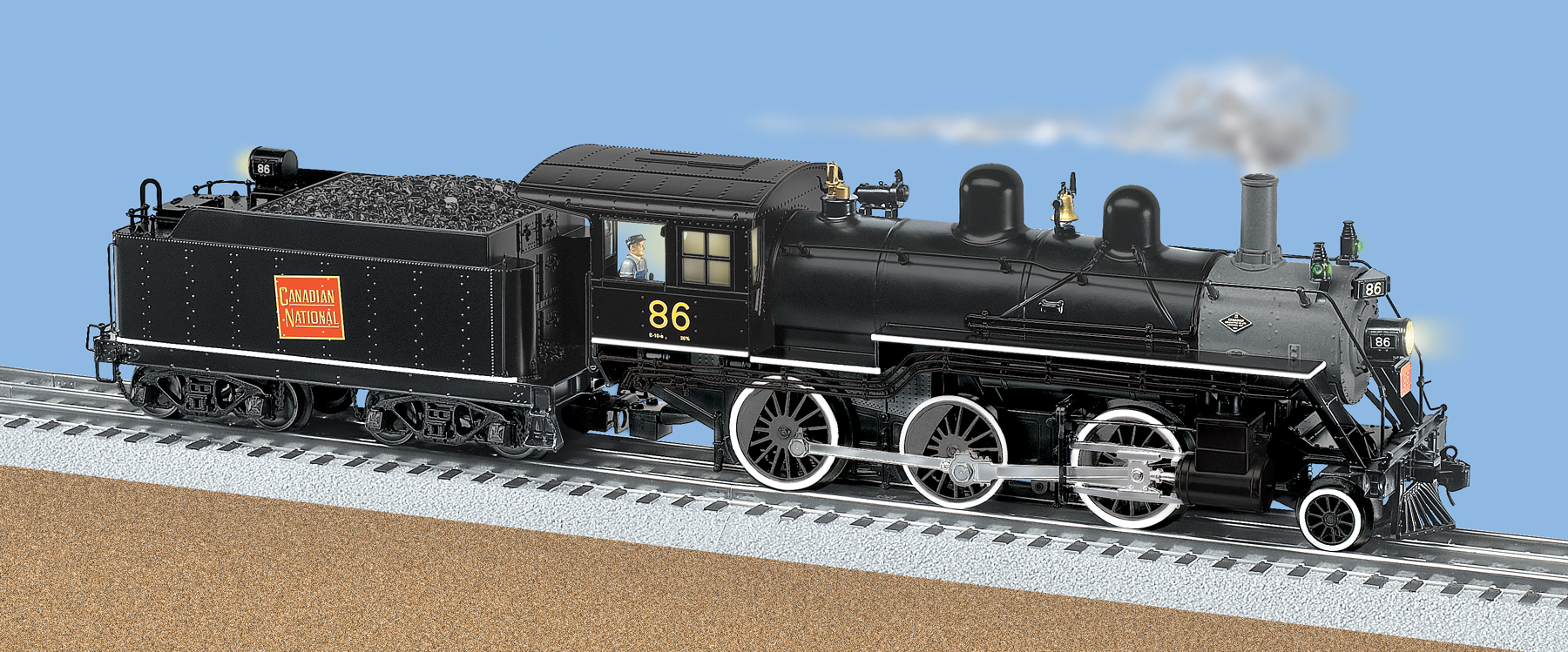 Canadian National Tmcc Scale 2 6 0 Mogul Steam Locomotive 86 Wiring Lionel  Whistle Lionel Locomotive Wiring Diagram