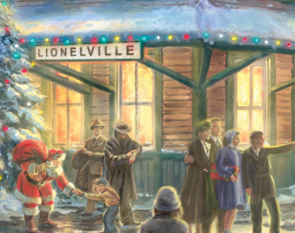 thomas kinkade all aboard for christmas boxcar