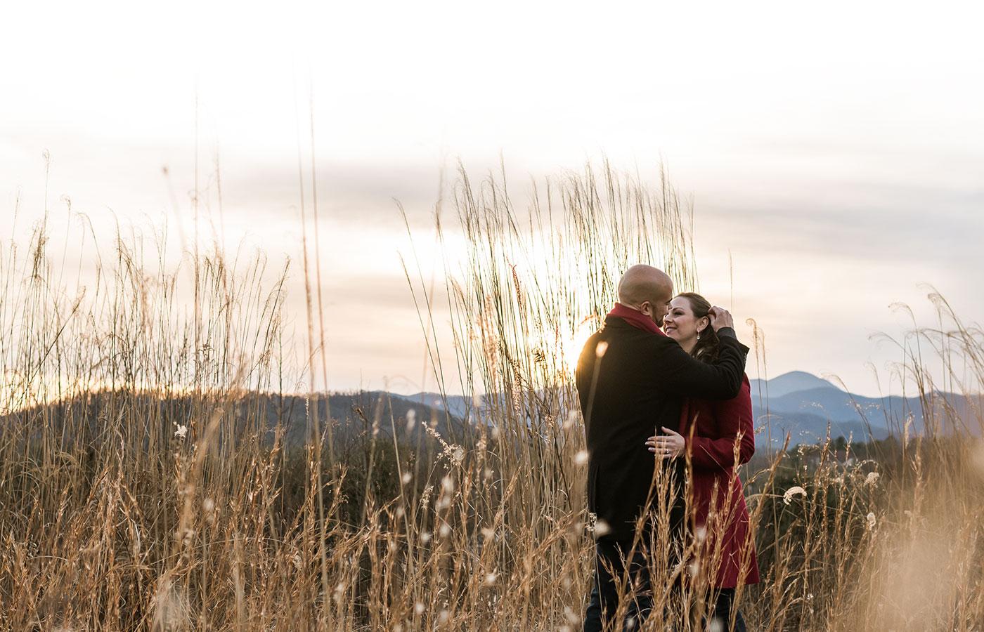 Lisa Castellani and Kyle Phillips Engagement Asheville, North Carolina