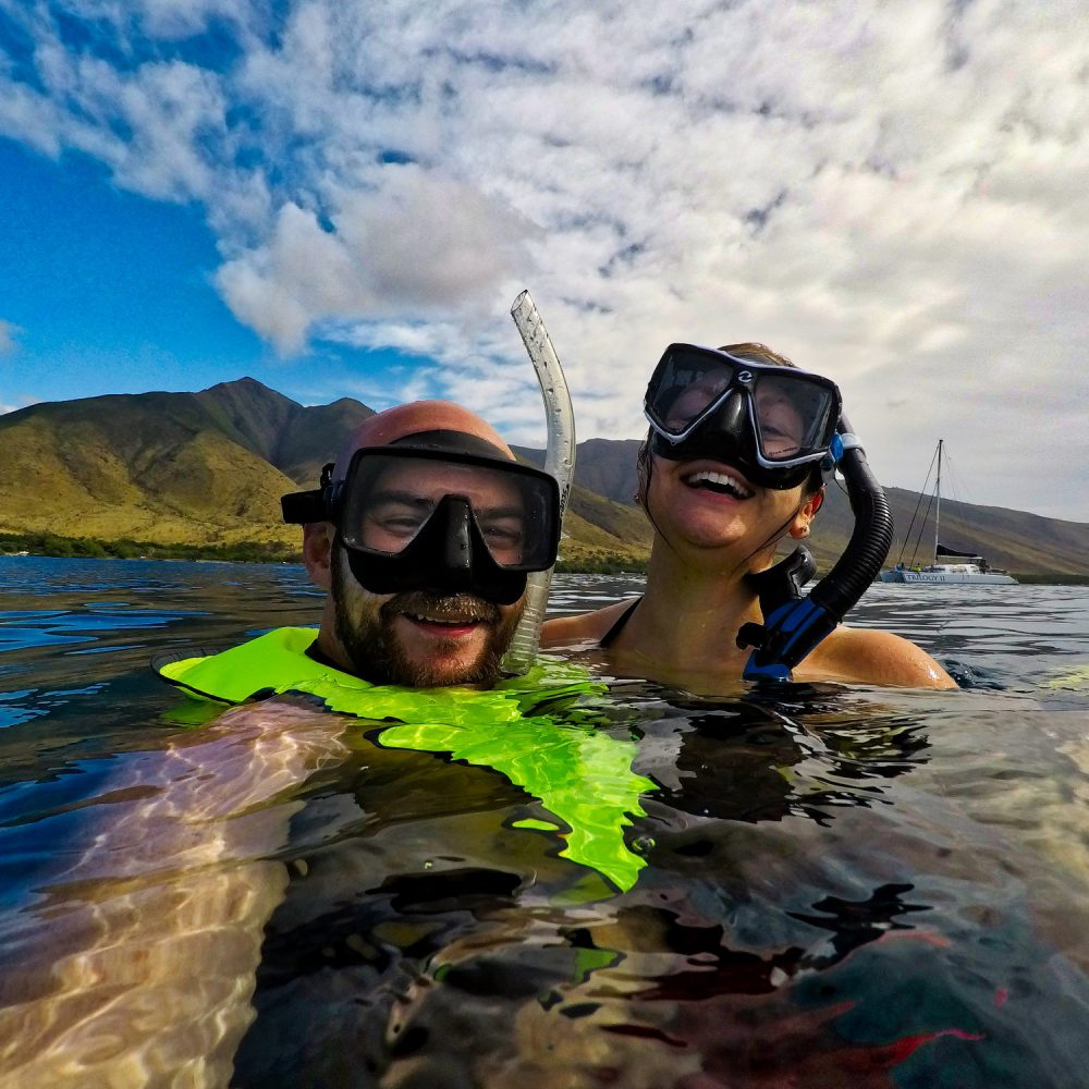 Lisa and Kyle Snorkeling