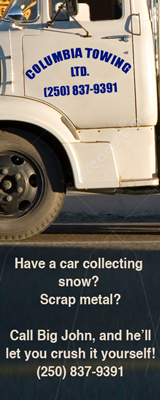 Columbia Towing - Crush your own car!
