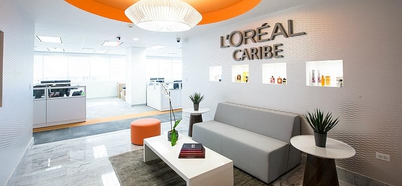 Dise o local para las nuevas oficinas de l or al caribe en for Disenos de interiores para oficinas