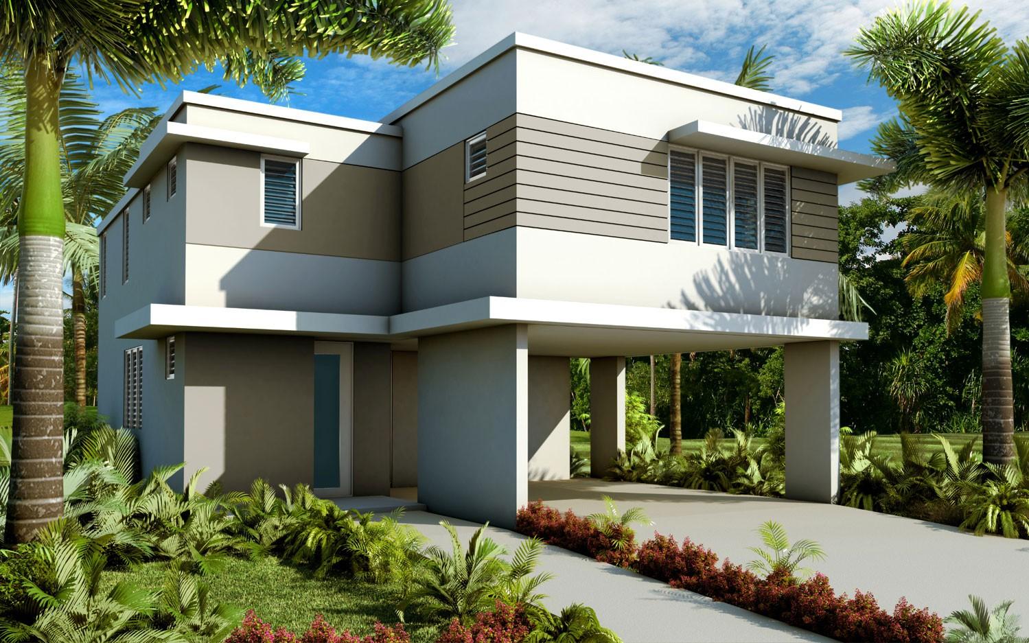 Casas nuevas en puerto rico con balcon pictures to pin on for Fachadas de casas modernas puerto rico