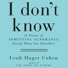 I Don't Know cover image