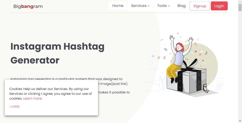 Bigbangram.com hashtag generator