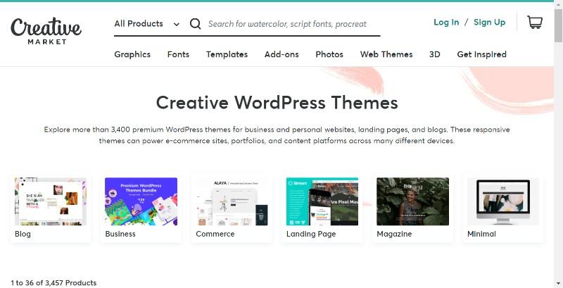 CreativeMarket Themes