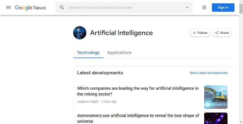 Google News (Artificial Intelligence - Technology)
