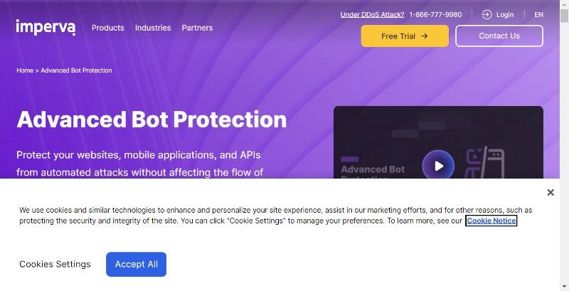 Imperva.com bot protection management