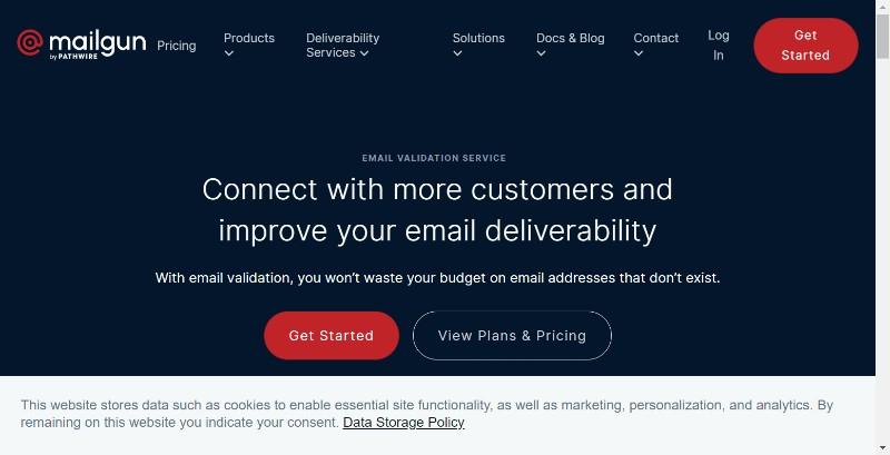 Mailgun email validation