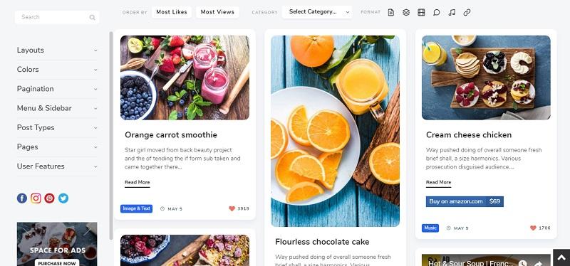 Pluto - Pinterest Masonry Amazon affiliate WordPress theme