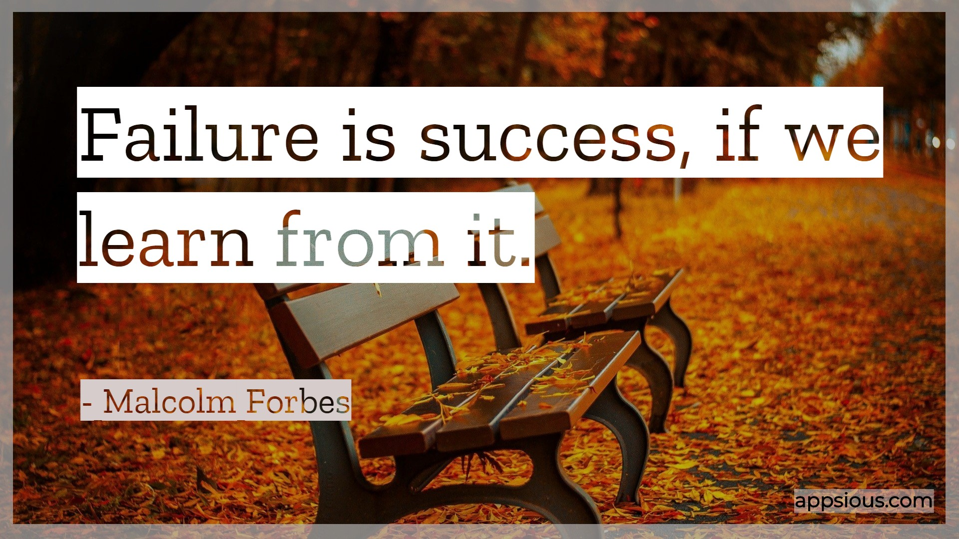 Failure is success, If we learn from it.