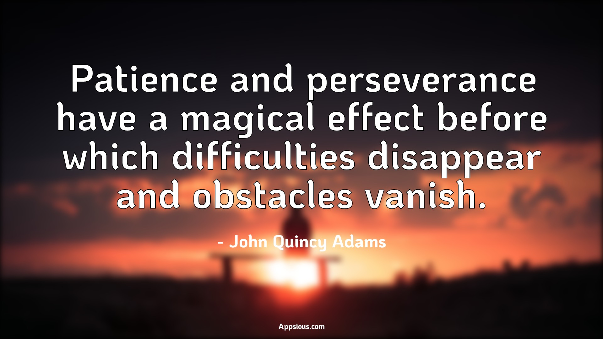 Patience and perseverance have a magical effect before which difficulties disappear and obstacles vanish.