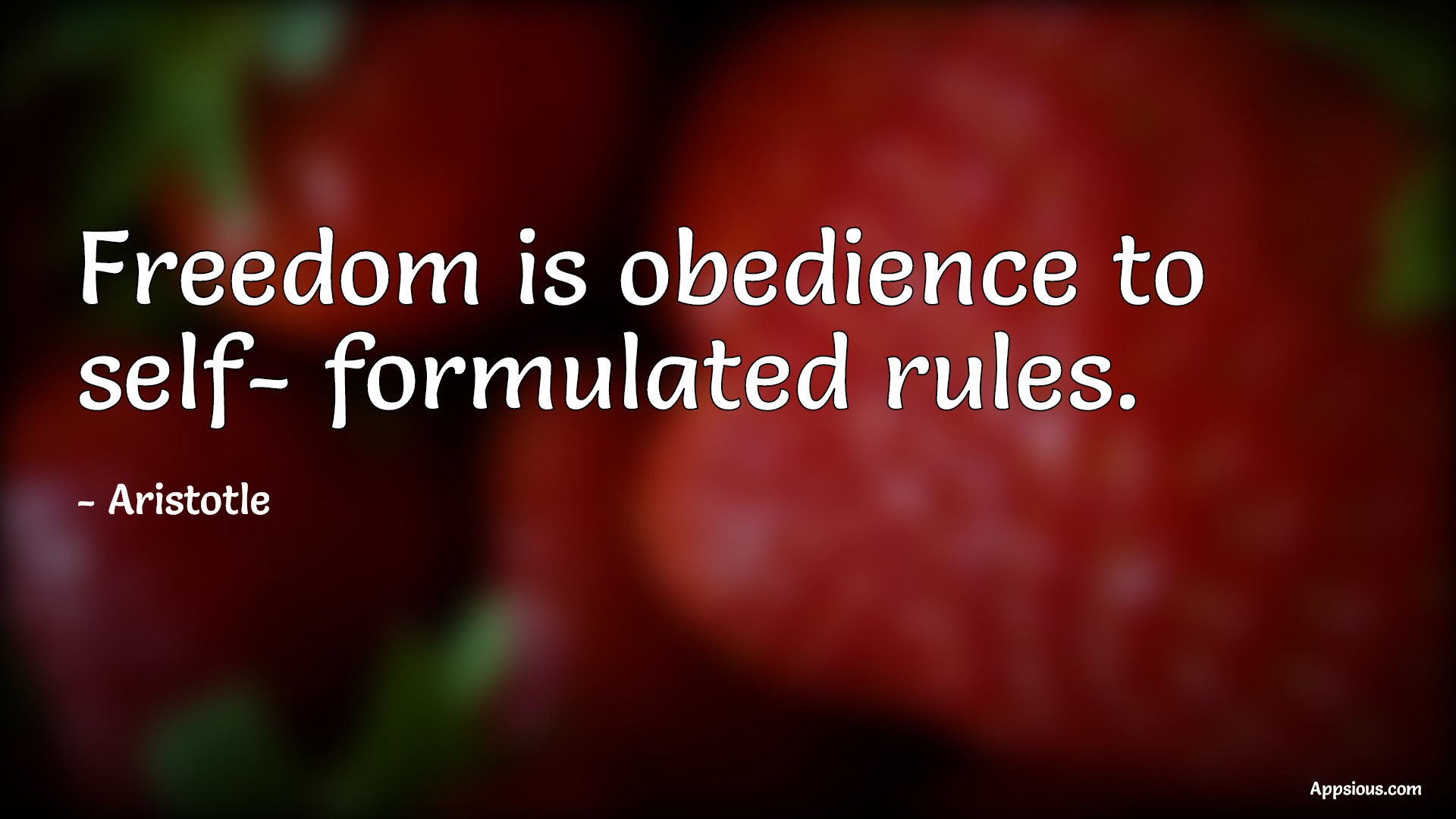 Freedom is obedience to self- formulated rules.