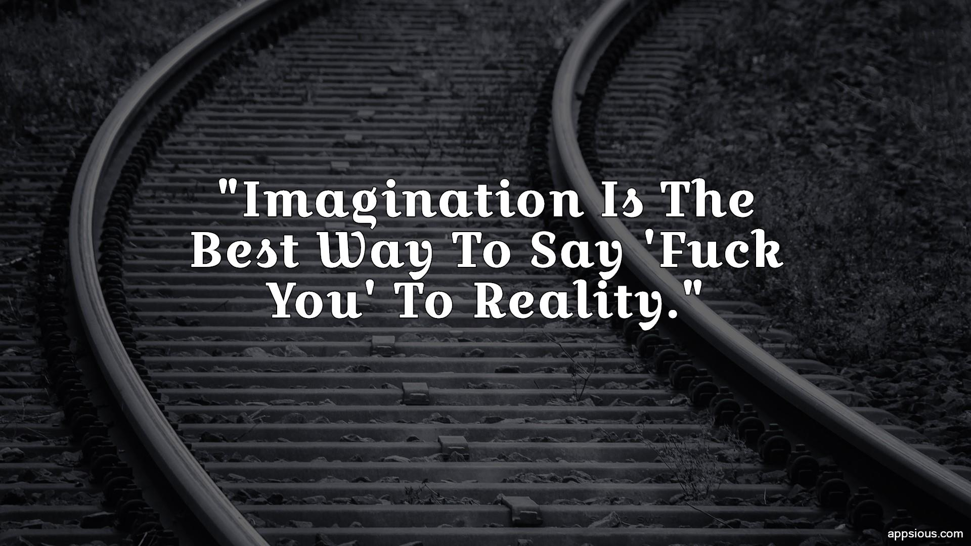 Imagination Is The Best Way To Say 'Fuck You' To Reality.